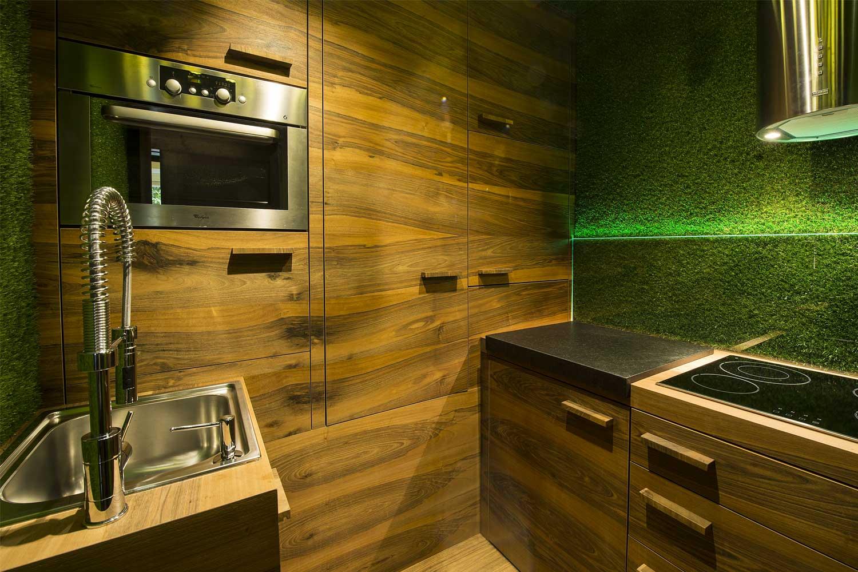 Applicazione Muschio sulle pareti interne di casa