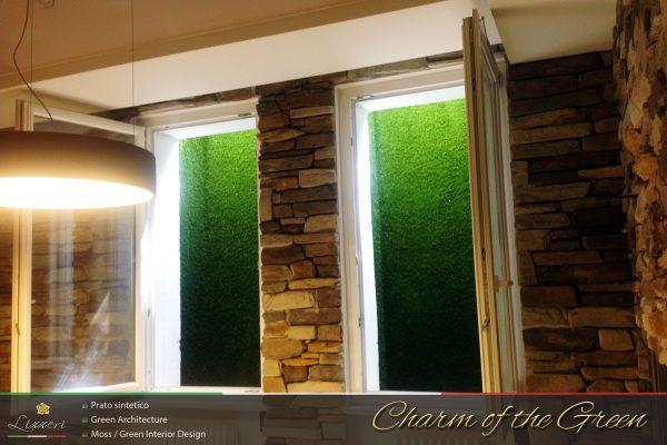 Pareti verticali in erba sintetica a Verona