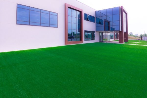 Garden with synthetic grass, with Memory