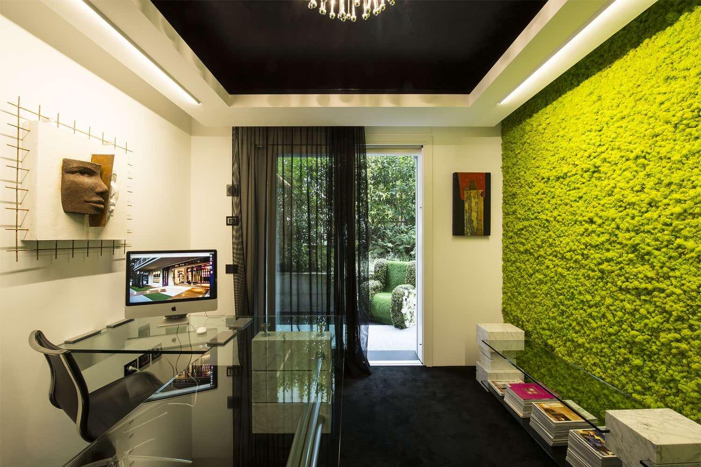 Muschio arredo a parete verticale interior design lichene naturale - Prato verticale per interni ...
